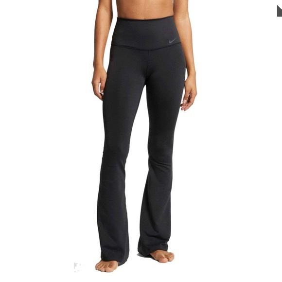 nike black flared leggings high waisted